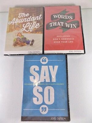 Joel Osteen Ministries~Lot Of 3 Cd/dvd~Say So~The Abundant Life~Words That Win