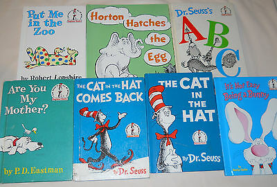 Lot of 7 Dr. Seuss Books Cat in the Hat/Horton/Put Me in the Zoo + More!