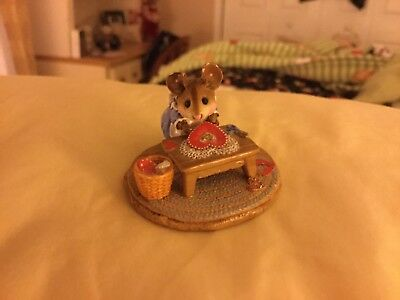 Wee Forest Folk Clementine M-204 Mouse Valentine's Day Hearts Scissors Table