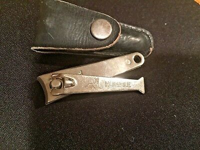 Vintage Humble Home Heating Oil With Dog Nail Clipper With Leather Storage Case