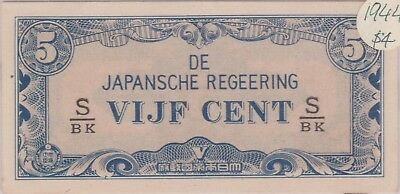(N9-24) 1940s Japan VIJF CENT 5c bank note (E)