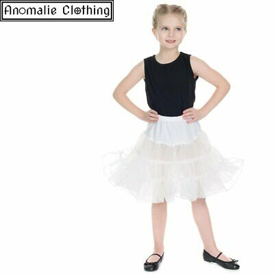 Hearts & Roses Kids Petticoat in White - 1950s Vintage Retro Girl Party Dress