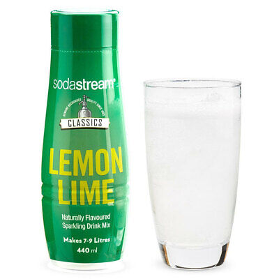 SodaStream Classics Lemon Lime 440ml/Sparkling Soda Water Syrup Drink Mix