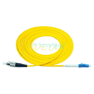 Netpatibles 10M Duplex OS1//OS2 SM LC//UPC to SC//UPC Yellow Indoor Fiber Jumper