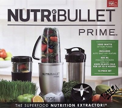 Magic Nutribullet Prime 12 Piece Set Juicer Blender Nutrition Extractor 1000W