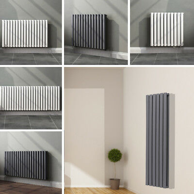 Wall Mounted Column Radiator Central Heated Radiators One Two-sided Oblong Panel
