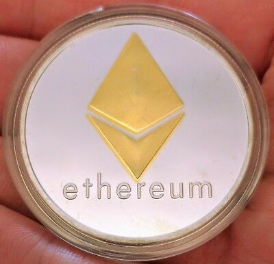 Physical Ethereum/ETH High-Polished, Silver- and Gold-Plated In Collector Case