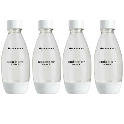 4x SodaStream Fuse Carbonating 500ml Spare Bottle for Sparkling/Drink Maker