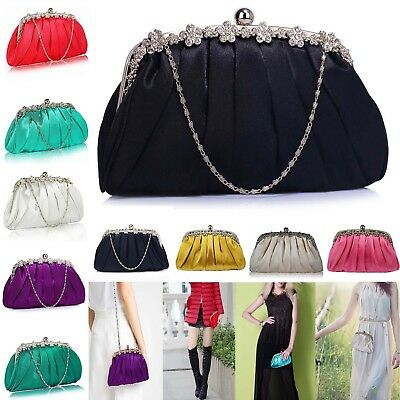 Bridal Clutch Bags Bridesmaid Satin Handbag Women Evening Ladies Designer Floral