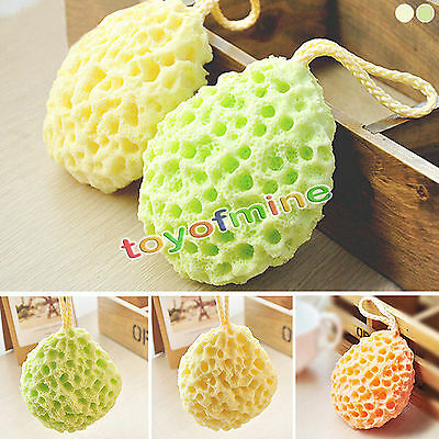 3 couleurs Bath Scrubber Douche Spa Sponge Body Exfoliant Balle Bath