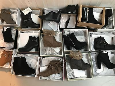 60 Pairs Joblot of ladies shoes wholesale footwear boots job lot all sizes mixed