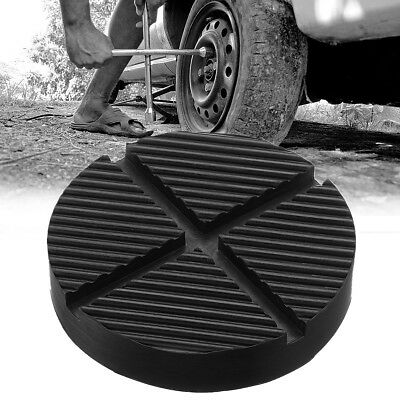 Universal Car Cross Slotted Frame Rail Floor Jack Guard Adapter Lift Rubber Pad