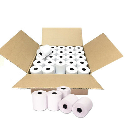 """100 Roll 2-1/4"""" x 50' Thermal Receipt Paper POS Cash Register Credit Card Paper"""