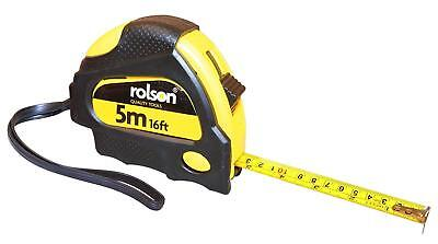 Rolson 19mm x 5M 16ft Measuring Tape Retractable Measure Locking DIY