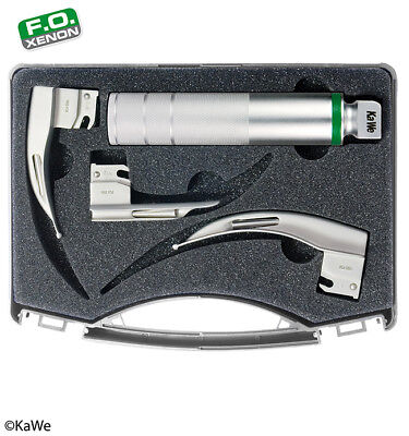 KaWe Laryngoscope Set for Paediatrics with battery handle 2.5 V and 3 blades