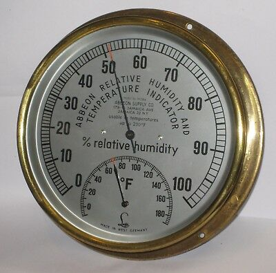 Abbeon Cal M2A4B Relative Humidity Temperature Indicator Hygrometer West Germany