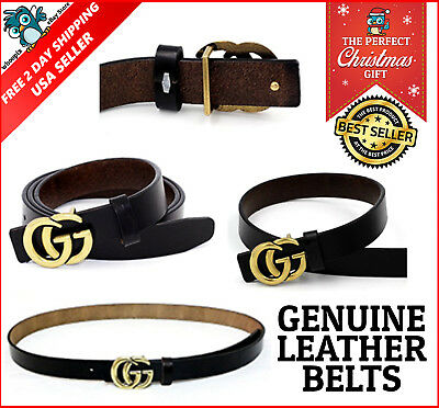 Womens Genuine Leather Thin Belts For Jeans 0 9 Belt For Womens Pants GG New