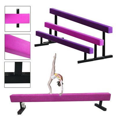 Folding/High Gymnastics Balance Beam Home Gym Training Metal Feet Equipment Bar