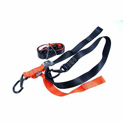 3920-0324 Spanngurte Tie Downs Powertye mit Haken/Karabiner schwarz / orange