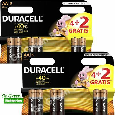 12 x Duracell AA Alkaline Batteries Plus OEM BULK CopperTop LR6, MX1500, MN1500