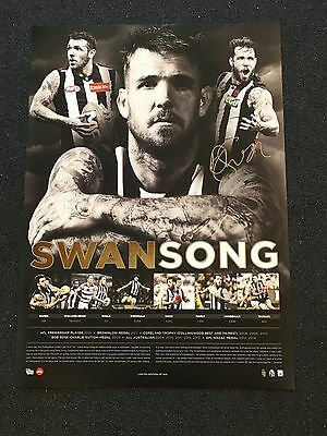 Dane Swan Collingwood Magpies Signed Career Retirement Swansong Limited Print