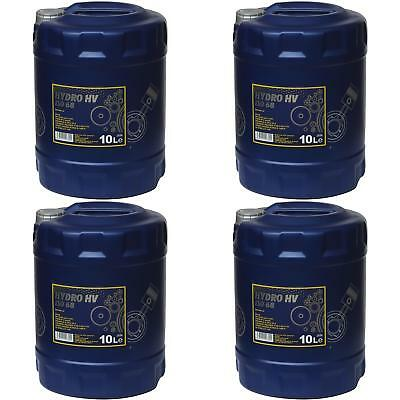 4x 10 Litre Genuine Mannol Hydro HV ISO 68 HVLP 68 Hydraulic Oil Oil Oil
