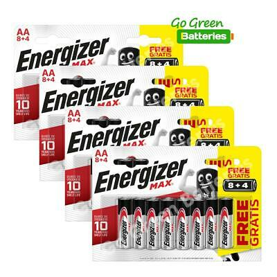 48x Energizer AA MAX Alkaline Powerseal Batteries LR6 MN1500 MIGNON *FILM OFFER*