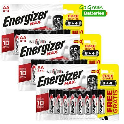 36x Energizer AA MAX Alkaline Powerseal Batteries LR6 MN1500 MIGNON *FILM OFFER*