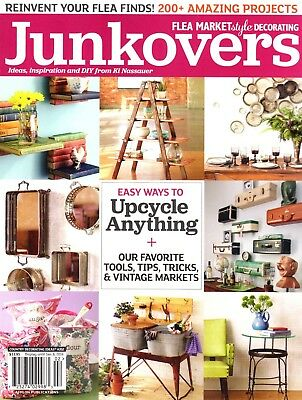 """""""JUNKOVERS"""" Magazine ~ Flea Market Style Decorating ~ Vintage ~ Projects ~ NEW"""