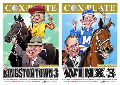 Kingston Town & Winx Harv Time Cox Plate Print Poster Set Of 2 - Limited Edition