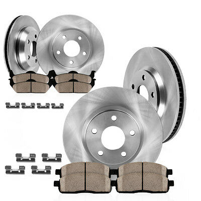 Front + Rear Rotors And Ceramic Pads 2014 2015 2016 2017 Jeep Cherokee