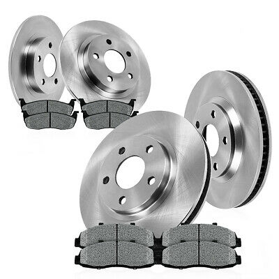 Front and Rear Rotors Metallic Pads 2003 2004 2005 FORD EXPLORER SPORT TRAC 4WD