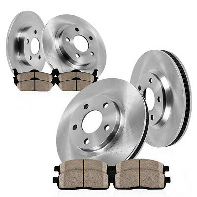 Front and Rear OE Disc Brake Rotors & Ceramic Pads Fit Kia Forte Soul