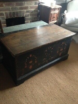 Painted Coffer Marriage Chest Trunk