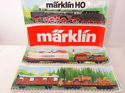 Marklin Trains Unused Store Display Stickers Decals Lot of 4 - Nice E2