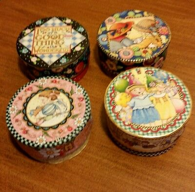 Mary Engelbreit Small Round Trinket Boxes ~4~ By Pooch And Sweetheart