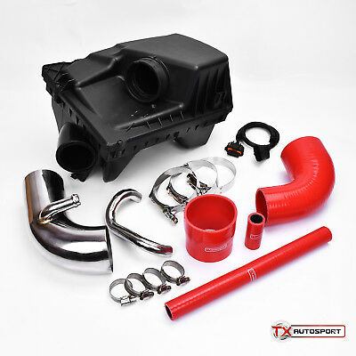 Astra MK4 Zafira GSi SRi Coupe AFM Pipe Air Feed Kit + Airbox - Chrome/Red
