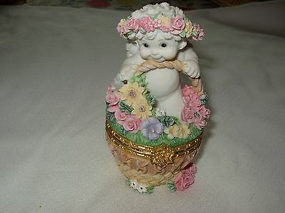 Dreamsicles Flower Basket Hinged Trinket Box 1997  #10354 Preowned No Box
