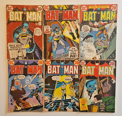 BATMAN 245 - 250 6 issues, Neal Adams, Denny O'niel