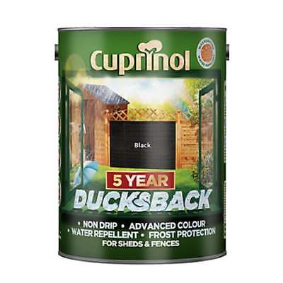 Cuprinol 5 Year Ducksback Waterproof Wood Fence Shed Stain Various Colours 5 L