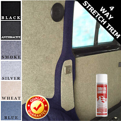 Includes 2 x Trimfix Glue 2m x 1.4m Anthracite Coloured Super Stretch Choose from 6 Colours /& 30 Sizes of Van Lining Carpet