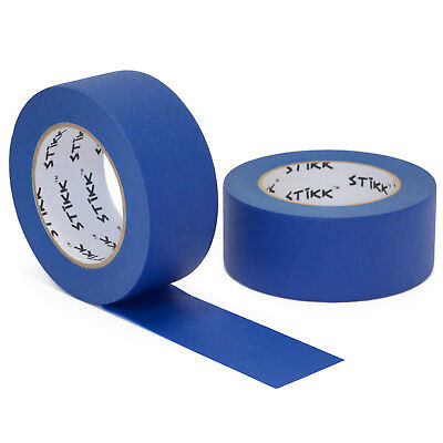 "2pk 2"" inch x 60yd STIKK Blue Painters Masking Tape 14 Day Clean Realease"