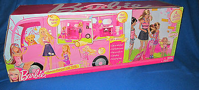 BARBIE GLAMOUR CAMPER WITH 4 DOLLS NEW Sealed HTF