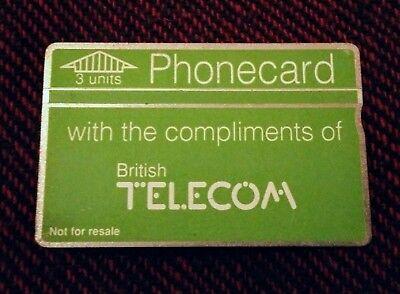 Extremely rare BT phonecard