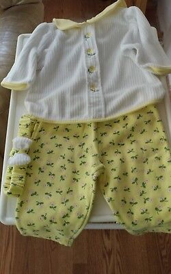 Girls Kids Baby  12 Months Pants, Top Outfit+ Headband Pre-Owned