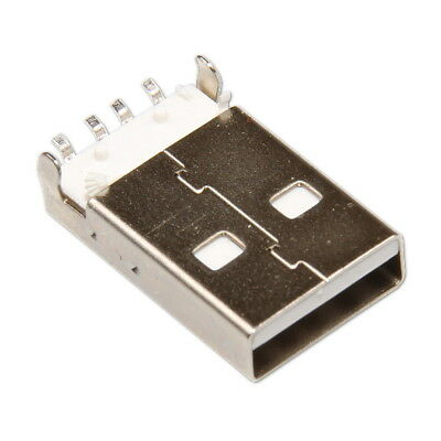 USB Type A Male 5-pin Plug SMT SMD Solder Mounting Straight Connector Assembly