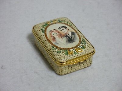 Halcyon Days Enamels Box - Prince Andrew and Sarah Ferguson Marriage #368 of 100