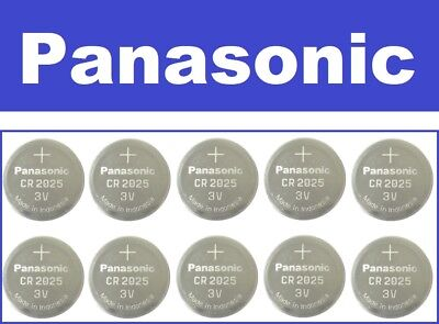 FRESH NEW 10 Pc Genuine Panasonic CR2025 Lithium Battery 3V Coin Cell Exp 2026