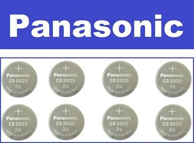 FRESH NEW 8 Pack Genuine Panasonic CR2025 Lithium Battery 3V Coin Cell Exp 2026