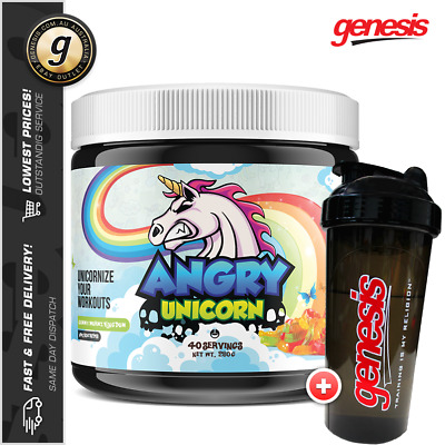 Yummy Sports Angry Unicorn - Intense Pre Workout Energy Muscle Pumps + Free Gift